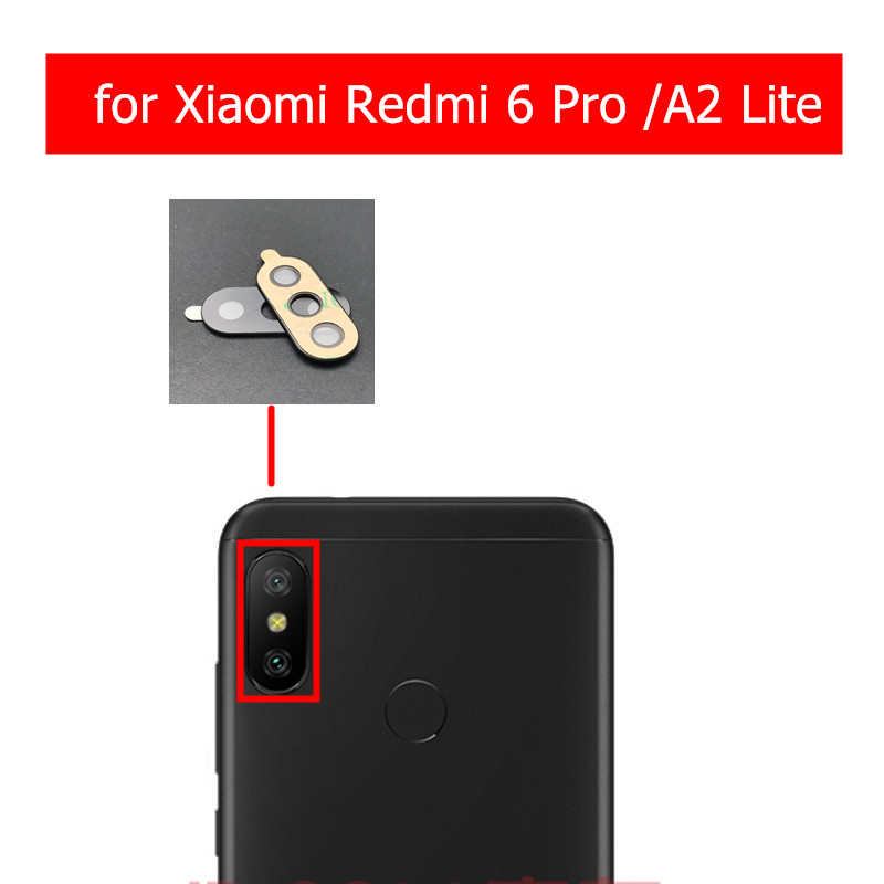 2pcs for Xiaomi Redmi 6 Pro/ Mi A2 Lite Camera Glass Lens Back Rear Camera Glass Lens with Glue Replacement Repair Spare Parts(China)