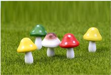 2pcs lot The Wood Mushroom Landscape decoration Baby toys Simulation of plant