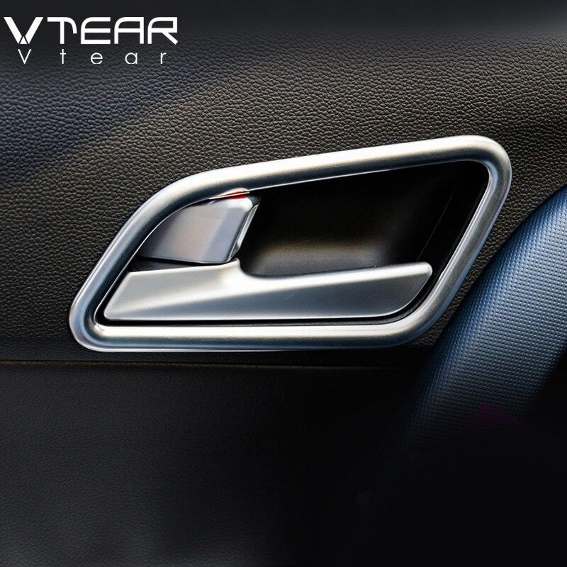 Vtear Für ix25 Hyundai Creta Chrom Innere tür schüssel abdeckung styling aufkleber ABS trim zubehör produkte Innenleisten 2017