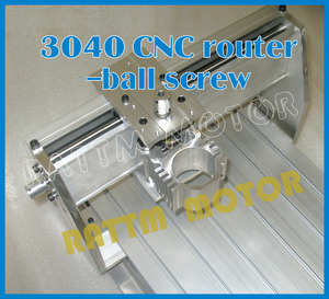 Image 2 - AUS delivery New 3040 CNC router milling machine mechanical frame kit ball screw with DC spindle motor