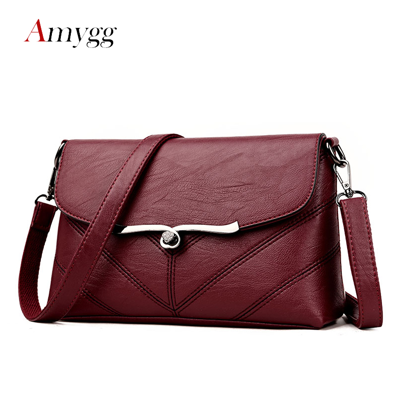 Nice Phtess Famous Brands Women Leather Handbags Shoulder Bag Sac A Main Luxury Handbags Women Bags Designer 2019 Small Messenger Bag A Great Variety Of Goods Women's Bags Luggage & Bags