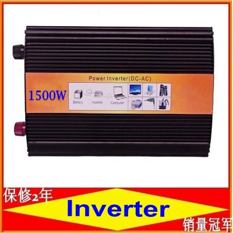 1500W pure sine wave power inverter off grid wind/solar inverter. 12/24/48/ DC to 100/110/120/220/230/240V AC