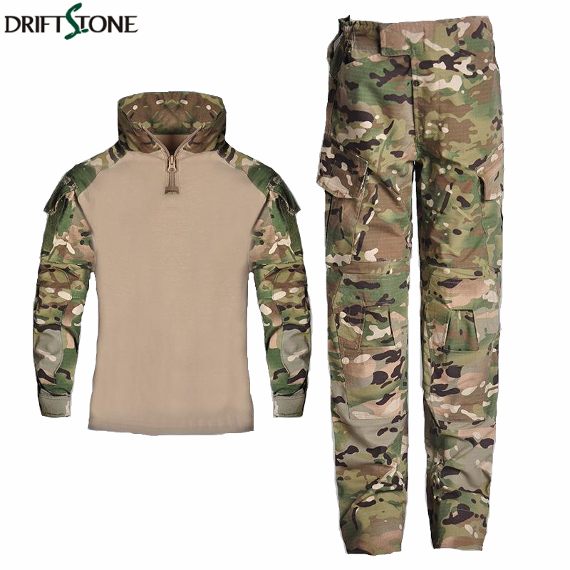 Kids Combat Pants and Shirts Suit Army Military Uniform BDU Military Tactical Gear Hunting Multicam For Children image