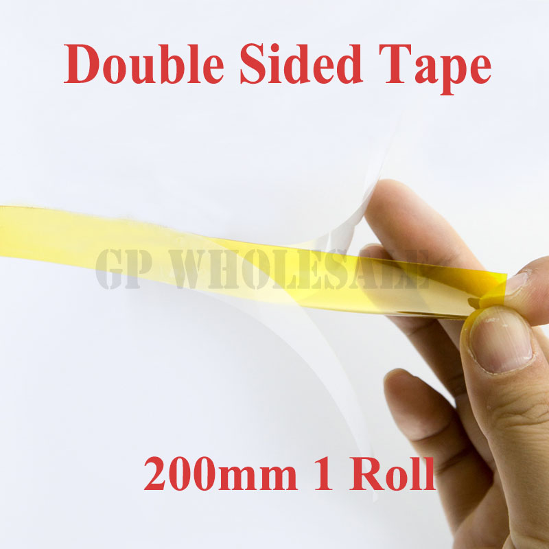 20cm / 200mm*20M 0.1mm Thick, High Temperature Resist, Two Side Sticky Tape, Polyimide Film for Relays, Protect 110mm 33 meters 0 08mm single side heat resist sticky pet polyester film tape for protection