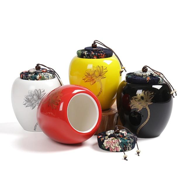 Elegant Ceramic Tea Box Spice Jar,Kitchen Decor Tempero Sugar Box Saleratus Jar,China Storage Bottles  Jar High-grade ceramic