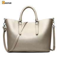 Designer Handbags High Quality Pu Leather Bags For Women 2018 Large Capacity Women Bag Set Casual Tote Shoulder Bags+Purse Gold