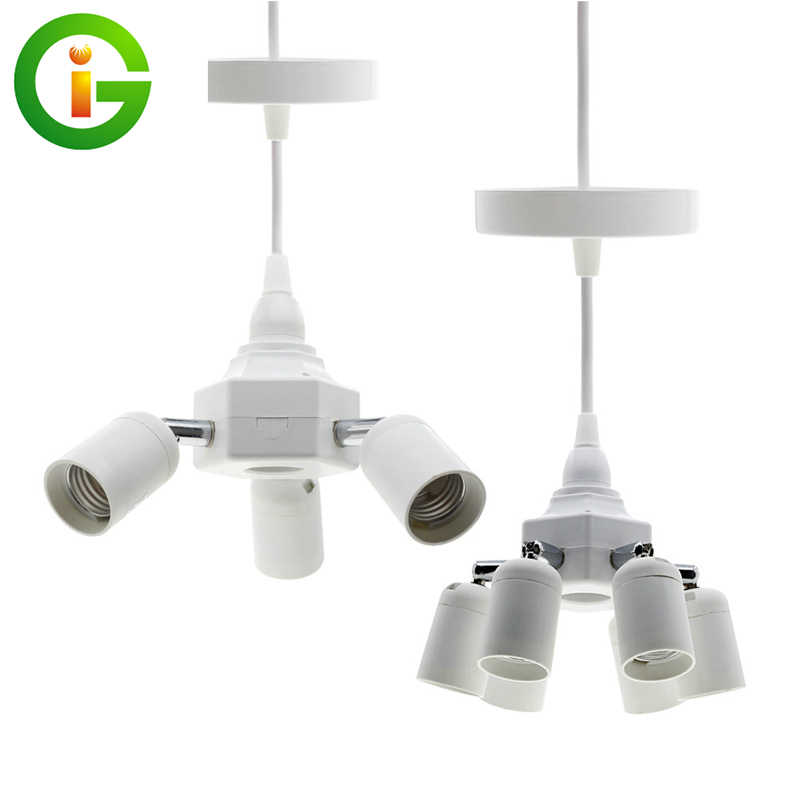 Grow Light E27 Lamp Holder Converters 4  E27 / 7 E27 Lamp Base Holder for Hoisted Grow LED Bulb Light.