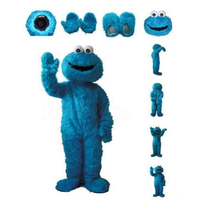 Adults Sesame Street Blue Cookie Monster And Elmo Mascot Costume Sales High Auality Long Fur Elmo