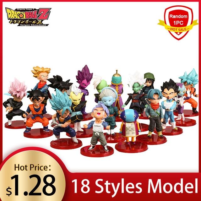 8 cm X 3 cm 18 Aleatória Estilo Dragon Ball Z Mini Saiyan Vegeta Goku Dragon Ball Z Figura de Ação brinquedo PVC Anime Modelo Coleção Toy Kid