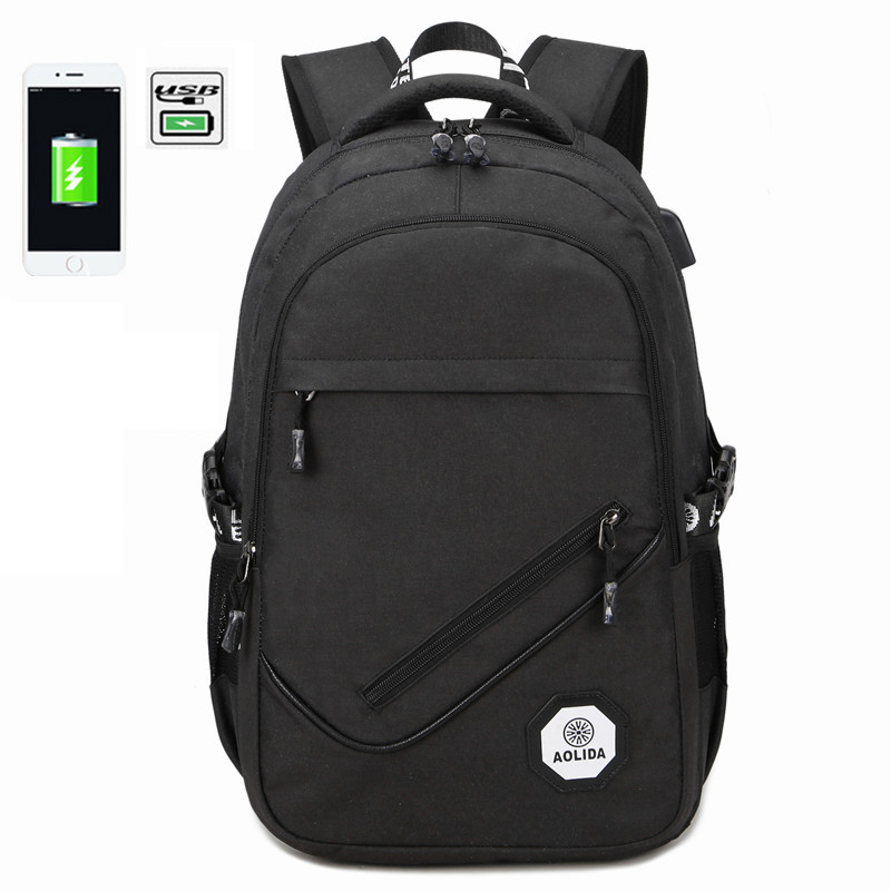 2018 New Backpacks For Teenage Boys School Bags Black USB Backpack Men Travel Bags back pack Fashion Laptop Bag 15.6 new products 2016 black laptop camera back pack bag waterproof travel hiking camera backpack bags cd50