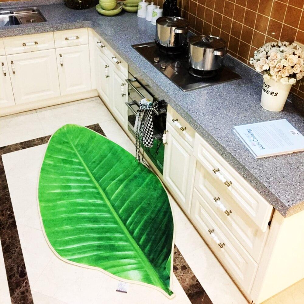 3D diseño verde hojas Tapetes patrón salón dormitorio Alfombras ...
