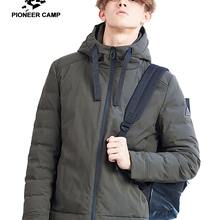 Pioneer camp new winter parka men brand clothing casual soli