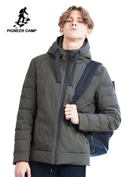 Pioneer camp new winter parka men brand clothing casual solid jacket coat hooded thick parkas male quality short style AMF801452