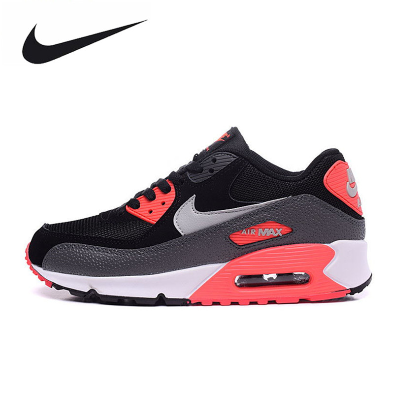 Nike Women WMNS AIR MAX 90 ESSENTIAL Sport Running Shoes,New Women Breathable Air Mesh Outdoor Sneakers Shoes 537384 camel shoes 2016 women outdoor running shoes new design sport shoes a61397620