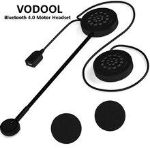 VODOOL Senza Fili di Bluetooth 4.0 del Casco Del Motociclo Auricolare Motore Accessori del Trasduttore Auricolare Della Cuffia Altoparlante Vivavoce di Musica di Trasporto di Goccia
