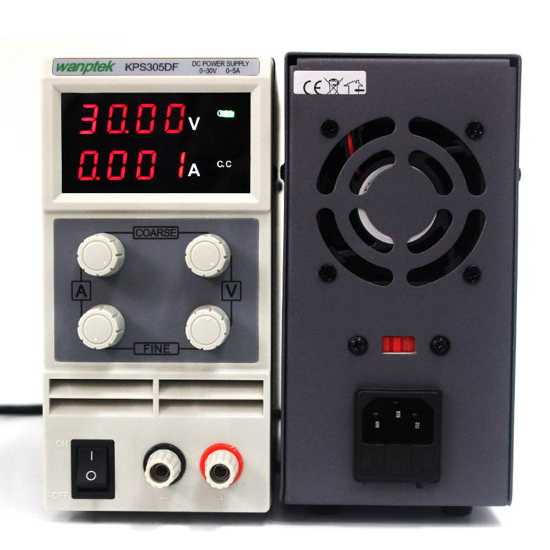 Wanptek KPS305DF Switching Display 4 Digits LED 0-30V 5A Mini DC Power Supply High Precision Variable Adjustable AC 110V/220V qj3005t variable linear input voltage 110v ac dc led digital voltage regulators power supply adjustable 0 30v 0 5a power supply