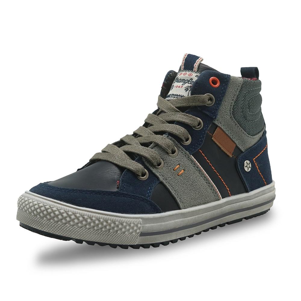 Image 2 - Apakowa automne garçons bottes en cuir Pu cheville Martin bottes avec soutien de la voûte plantaire chaussures de loisir à la mode pour les garçons avec fermeture éclair EU 32 37boys bootsboys fashion bootsboots boys -