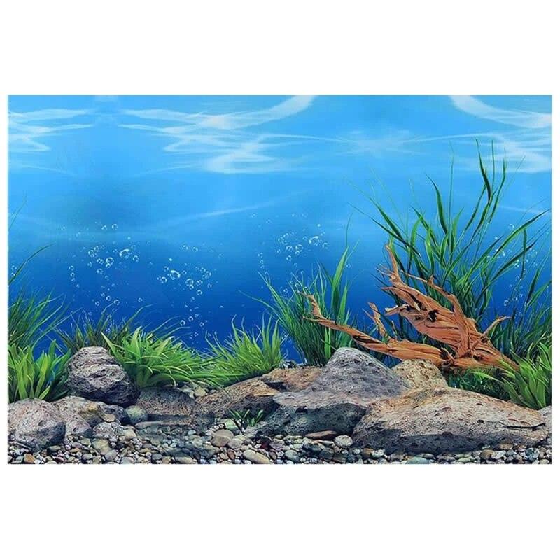 "9094 23.3 ""X 60"" Double Sided Ikan Tangki Poster Dunia Laut/Laut Kayu  Mengkilap Dekorasi Dinding Latar Belakang Akuarium|aquarium Background|decoration  Aquariumaquarium Decoration Background - AliExpress"