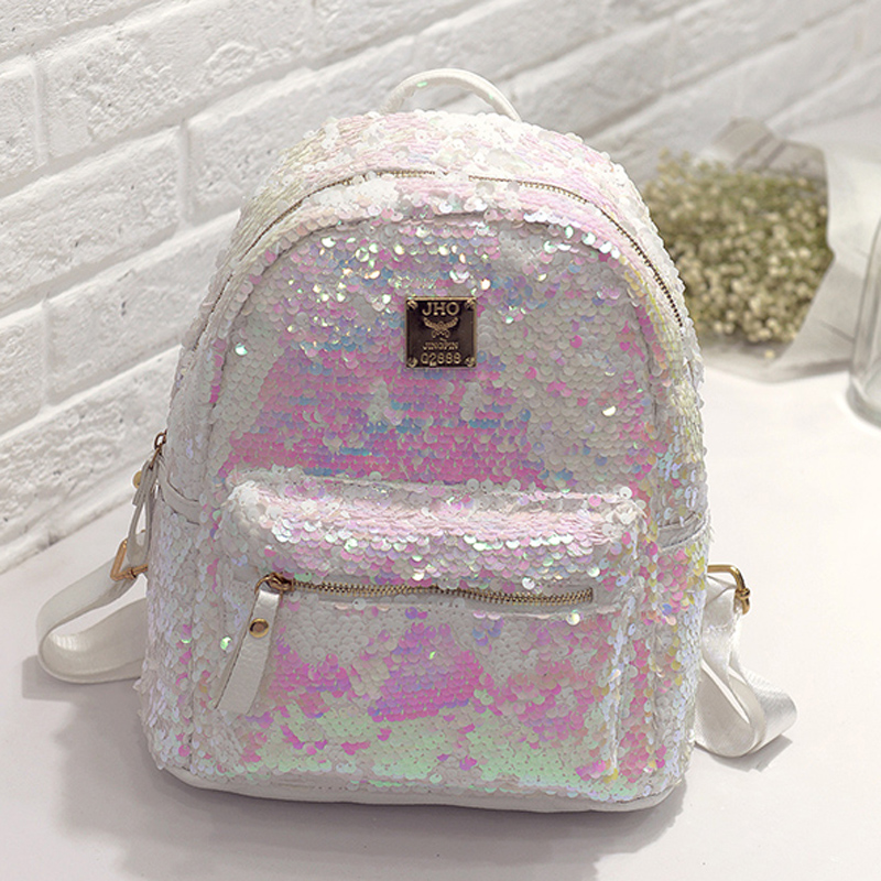 ZHIERNA 2017 High Quality Fashion Women's Shinning Glitter Bling Backpack  Sequins PU Leather Backpack Preppy Travel School Bag 2017 new arrive famous brand designer women bling bling backpack fashion sequins backpack preppy style girl s school bags xa294b
