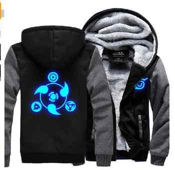 Naruto Hoodie New Anime Uchiha Sasuke Cosplay Coat Uzumaki Naruto Jacket Winter Men Thick Zipper Luminous Sweatshirts - DISCOUNT ITEM  26% OFF All Category