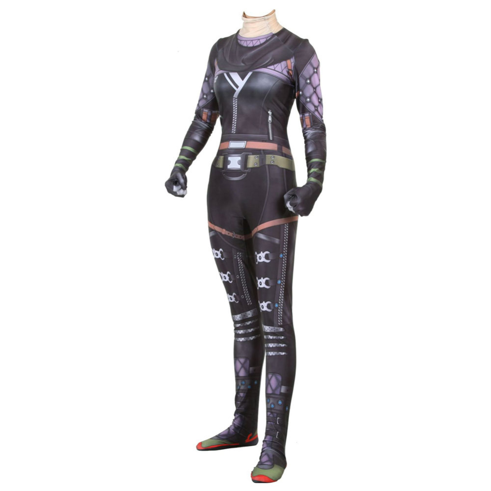 2019 Game Apex legends Wraith Cosplay Costume Adult Women Girl Role Playing Zentai Spandex Bodysuit Jumpsuit Suits