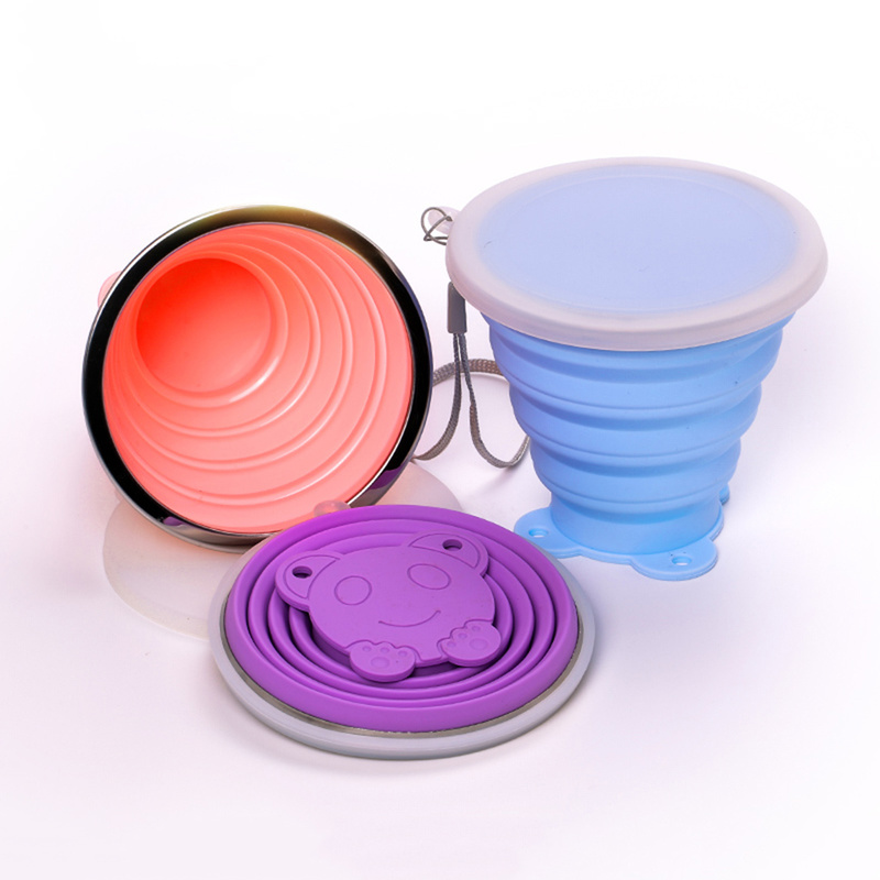 270ML Travel Cup Stainless Steel Silicone Retractable