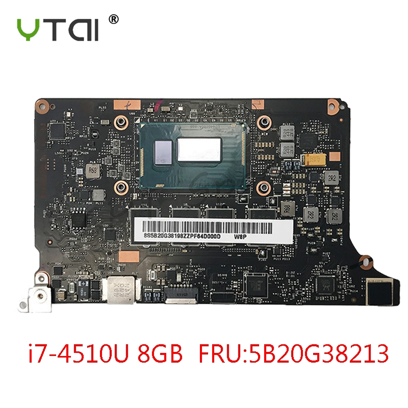 VIUU3 NM A074 YOGA2 Motherboard i7 4510U CPU 8GB RAM for Lenovo Yoga 2 Pro Laptop