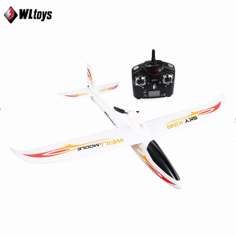WLtoys F959 2.4G Radio Control 3 Channel RC Airplane Fixed Wing RTF SKY-King Aircraft Outdoor Drone Toy Foldable Propeller tz