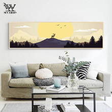 Poster No Frame Landscape Canvas Art European Classical Deer Wall Pictures Traditional Living Room Decoration Wall Art Prints(China)