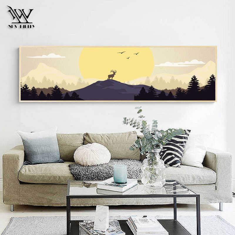 Poster No Frame Landscape Canvas Art European Classical Deer Wall Pictures Traditional Living Room Decoration Wall Art Prints Painting Calligraphy Aliexpress