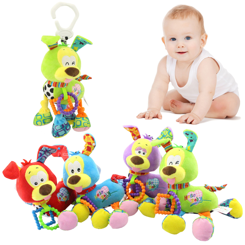 New baby appease dog multifunction car hanging bed hanging childrens toys baby rattles toys