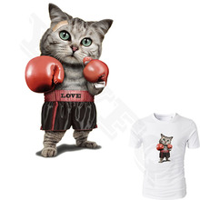 Cute Patches for Clothes Cat Boxer