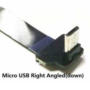 Image 2 - Mini câble USB mince de 5 à 100CM, Ultra Standard, droit de type A vers mâle, Micro coudée en bas, idéal pour tablette et PC