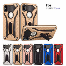 100 PCS Shockproof Kickstand Case Hybrid TPU Armor Protection Full Back Cover For iphone 5 5s SE 6 6s 7 8 plus X XR Stand Coque