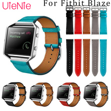 Business leather strap For Fitbit Blaze smart watch frontier/Classic bracelet For Fitbit Blaze smart strap band accessories genuine leather watch band for fitbit blaze replacement band meatal frame house wrsit band for fitbit blaze smart watch strap