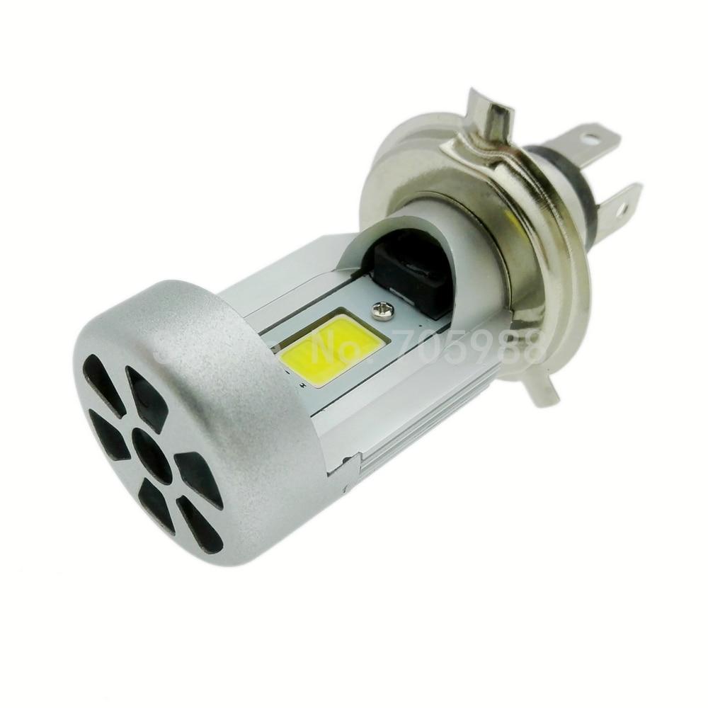 100% Echt Motorfiets LED Koplamp H4 hi lo Lamp HS1 COB Hoofd lamp 20 - Motoraccessoires en onderdelen - Foto 1
