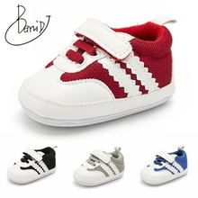 2019 baby boys shoes summer Breathable toddler Shoe indoor Non-slip newborn shoes stripe baby shoes girls First Walkers