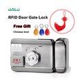 DC12V электрические ворота двери RFID Умный Замок Система контроля доступа бесплатный китайский узел в подарок