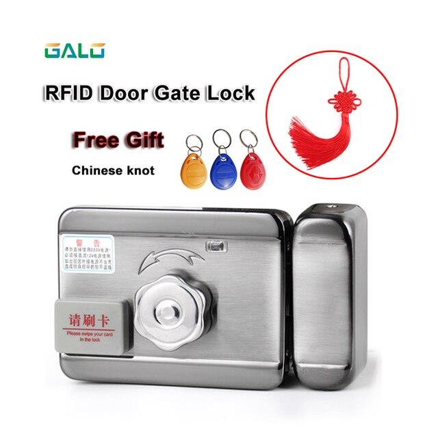 DC12V Elektrische Tor Tür RFID smart Schloss Access Control System Freies Chinesischen knoten als geschenk