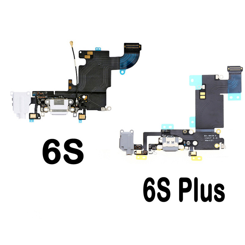 High Quality Charger Dock USB Charging Port Plug Flex Cable For Iphone 6S 6S Plus With Headphone Jack Version Mic
