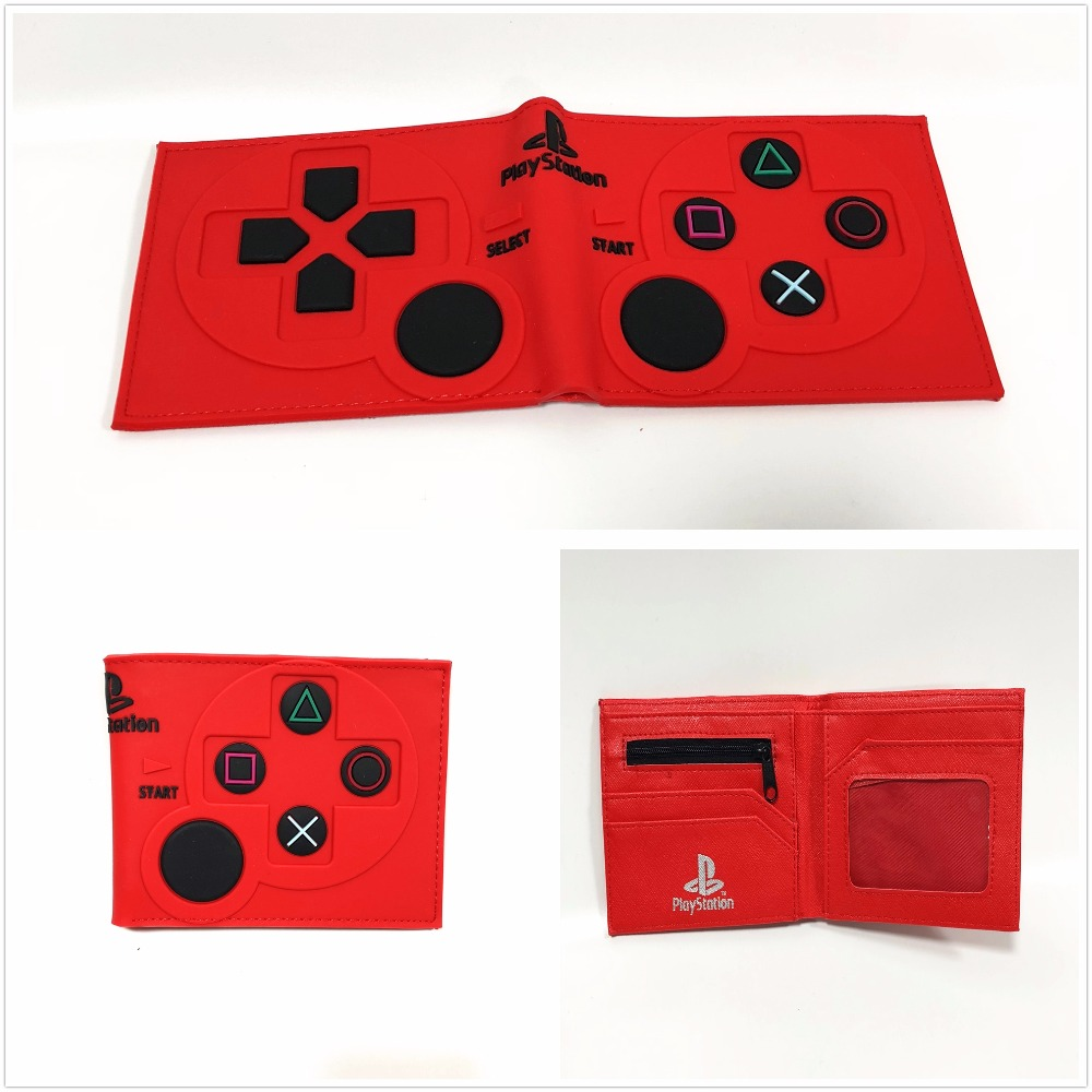 2018 New Game PlayStation Wallet Short PVC Purse Credit Card Holder 3D Touch W956Q