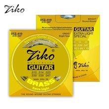 Ziko Acoustic Guitar Strings Set 010 Extra light 010-047 Great Bright Tone Round Wound Acoustic Guitar Strings 6strings/set