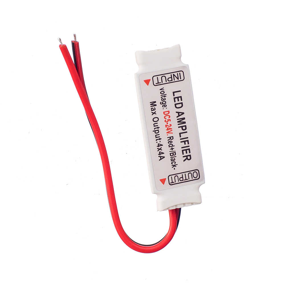 OSIDEN البسيطة RGBW مكبر للصوت 5 دبوس تحكم DC5-24V 4CH x 4A مكرر إشارة ل 5050 RGBW LED قطاع ضوء 5 قطع