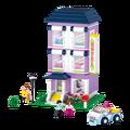 Sluban creativo diy tamaño pequeño niños bloques de construcción de juguetes bloques compatibles con las principales marcas de ladrillo rosa sueño niños juguetes para niñas