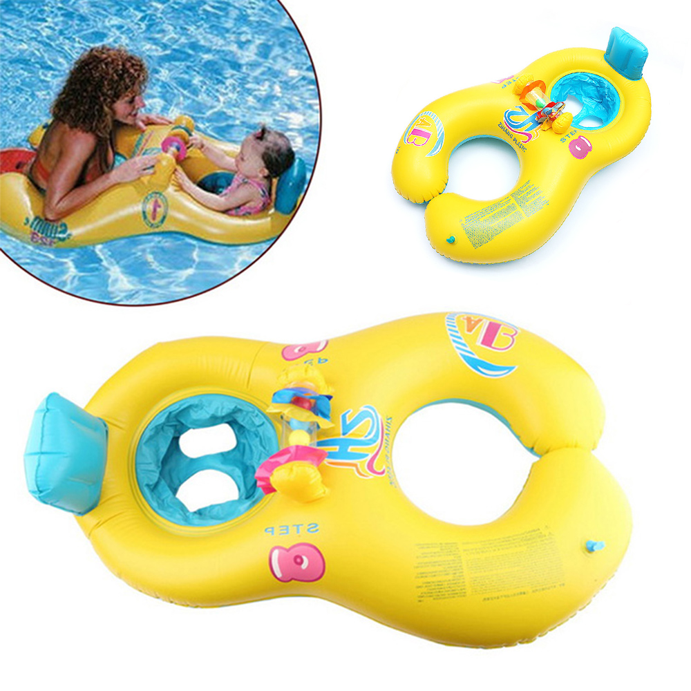 Mother Child Inflatable Ring Swimming Circle Baby Float Double Swimming Pool Accessories Swimtrainer Circles Inflatable Wheels