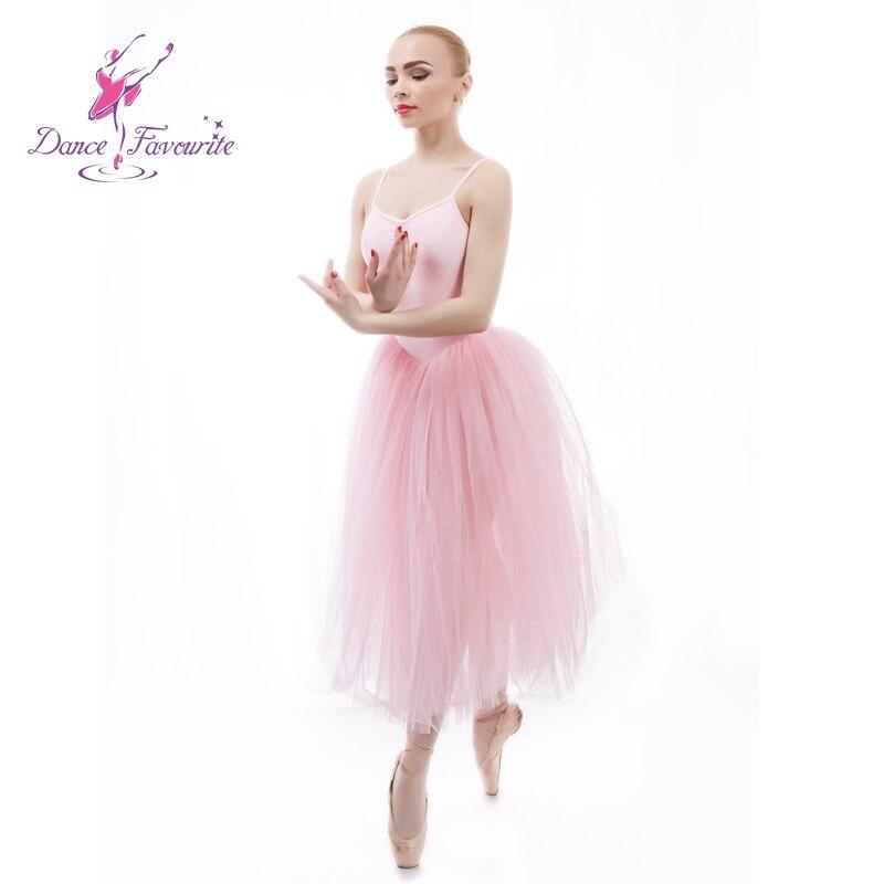 Justaucorps moderne sans manches paillettes Ballet danse robe pour filles danse lyrique robe patinage Performance Costumes 5 couches B-6466