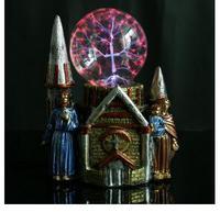 Explosive resin craftmanship magic ball Castle pair of people creative fashion crystal luminous magi setting piece factory outle