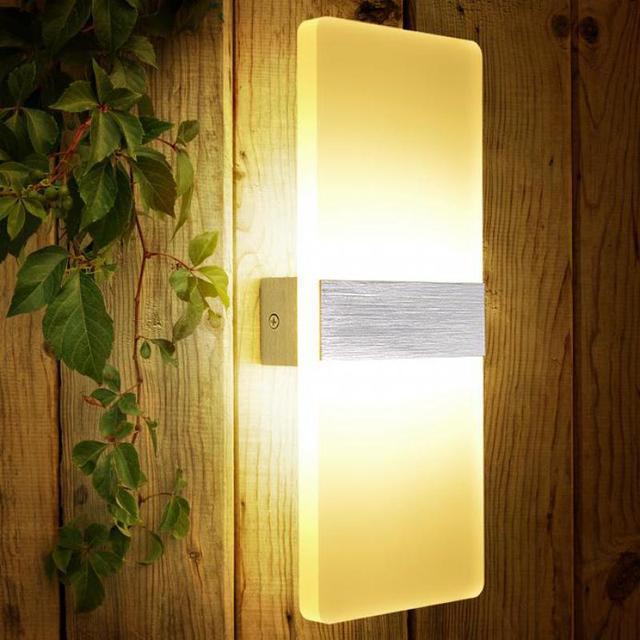 Bathroom 7W Led Panel Acrylic wall sconce indoor wall lamp Luminaire ...