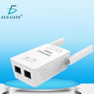 Image 2 - 300 mbps 무선 릴레이 새로운 듀얼 안테나 듀얼 네트워크 포트 무선 wifi 신호 증폭기 무선 ap