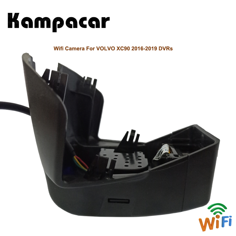 Kampacar 2 Car Wifi DVRs Auto Camera Video Recorder For Volvo XC90 2015 2016 2017 2018